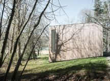 a Single Volume Timber House in North-Western France ...