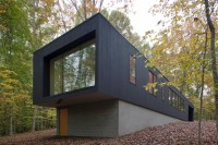 Black House Hidden In The Forest By in situ studio - Your ...