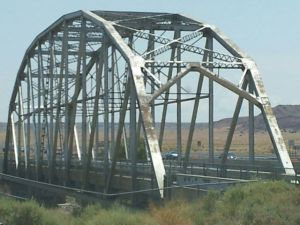 Old bridge on Route 66 Arizona