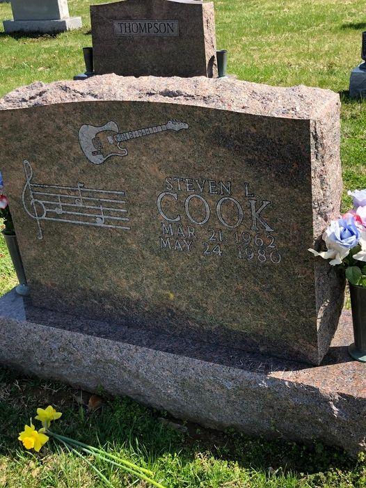 head stone in a cemetery