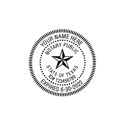 Notary Embossers: Texas Notary Insert Only