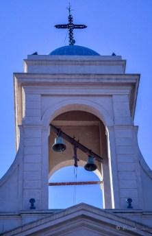 Campanario del Santuario de Nuestra Señora del Tránsito y Santo Cura Brochero. Villa Cura Brochero. Córdoba. Argentina 2017.