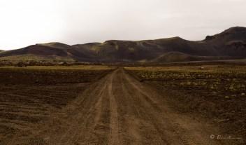 Carretera de tierra. Hekla.