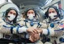 Cosmonautas rusos y astronauta de la NASA despegan a la Estación Espacial