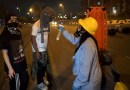 Protestas violentas en el Portal de las Américas en Bogotá en la madrugada del viernes