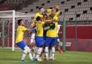 Los campeones defensores Brasil llegan a la final de fútbol masculino tras una reñida victoria sobre México