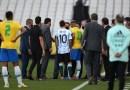 Autoridades sanitarias de Brasil interrumpen partido entre Brasil y Argentina