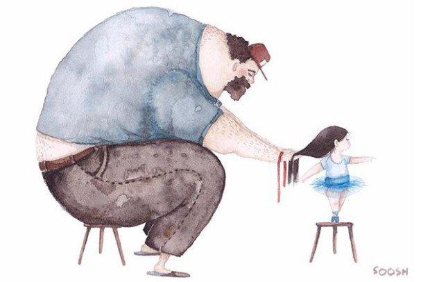 10 ilustrações encantadoras que revelam o amor entre pai e filha