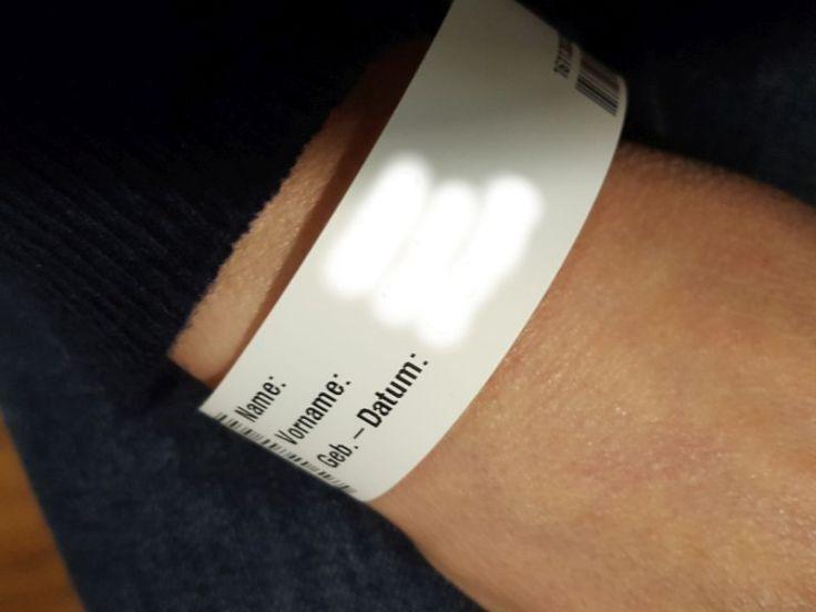 Krankenhaus-Patientenarmband