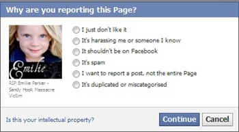 report fake facebook pages - 2
