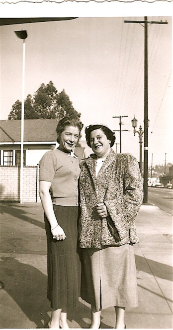 "Miriam Wolfson and May Brown, ""The Butch of the Century,"" 1951. Courtesy of Miriam Wolfson's Personal Photography Collection. Possession of Alix Genter."