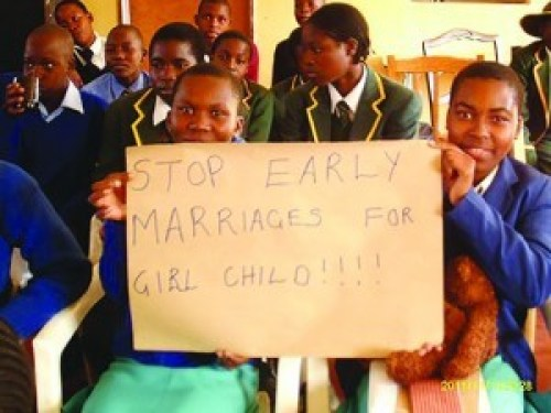 Zimbabwean schoolchildren campaign for a change in child marriage law, 2011