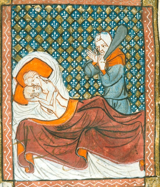 A couple discovered in adultery (British Library)