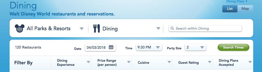 Walt Disney World Favorite Table Service Restaurants NOT Club - Walt disney world table service restaurants
