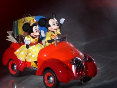 Mickey And Minnie make an entrance