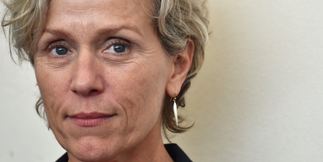 "US actress Frances McDormand poses during the photocall of the movie ""Olive Kitteridge"" presented out of competition at the 71st Venice Film Festival on September 1st, 2014 at Venice Lido. AFP PHOTO / GABRIEL BOUYS (Photo credit should read GABRIEL BOUYS/AFP/Getty Images)"