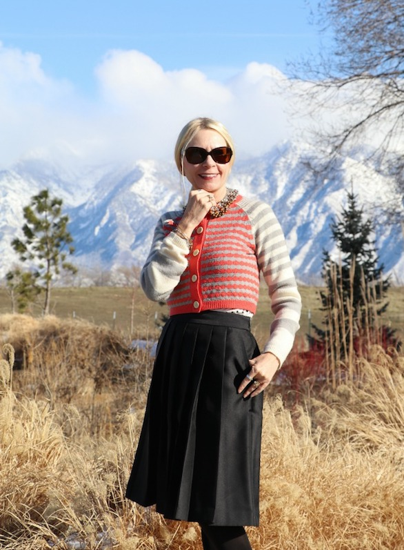 trina striped sweater