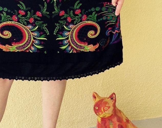 print skirt hem mix it