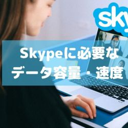 Skypeに必要な データ容量・速度