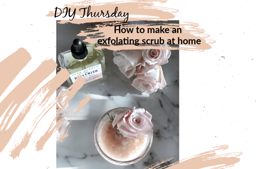 | DIY Thursday- How to make an exfoliating salt scrub |