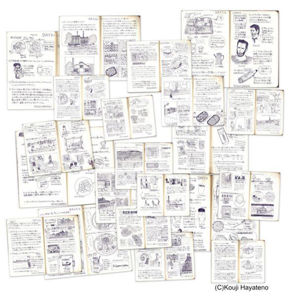 オスロ旅日記サムネイル。モレスキンのプレーン(ラージサイズ)をオスロ旅日記のキャンバスに。