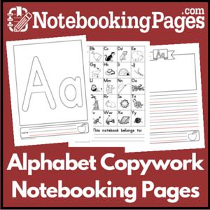 Alphabet Copywork Pages