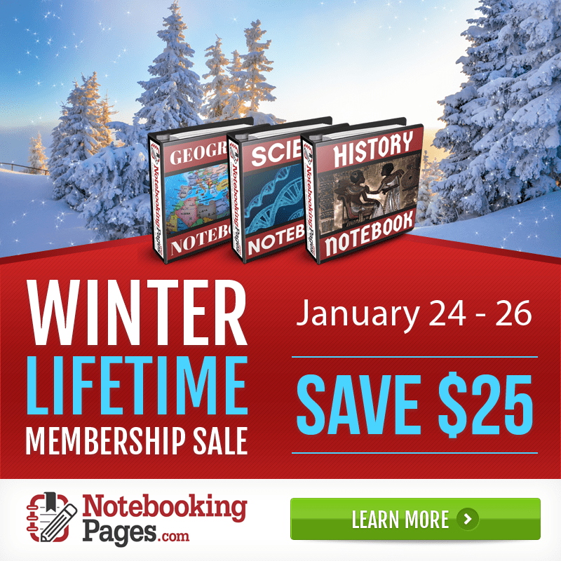 Notebooking Pages Winter Membership Sale