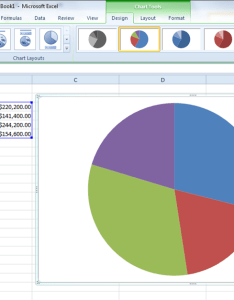 This will insert an embedded chart as shown above in the spreadsheet you can see our pie is quite basic simply displaying data points color also how to create charts using microsoft excel rh notebooks