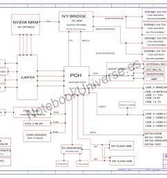 schematic diagram for toshiba qosmio x875 laptop notebook inventec gl10fh mainboard cpu intel ivy bridge dc 45w vga nvidia mxm w optimus [ 1024 x 768 Pixel ]