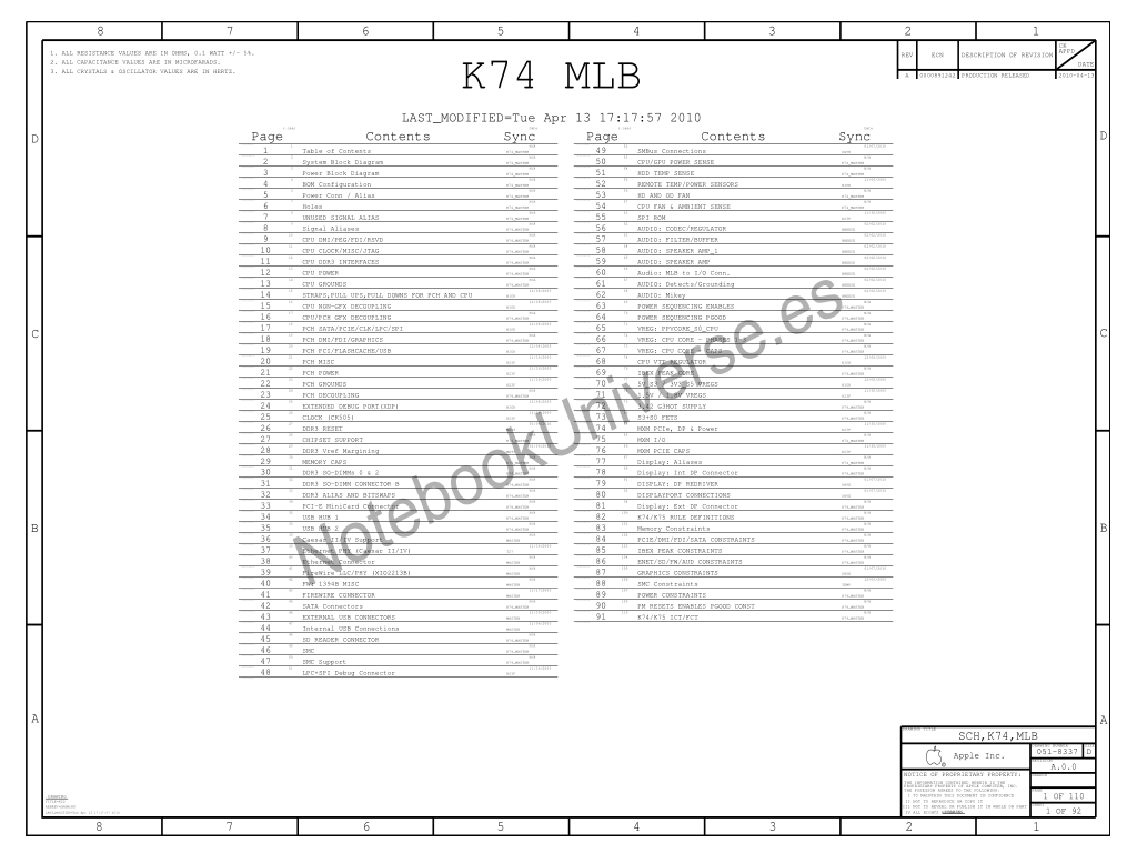 Apple iMac A1311 schematic – 820-2784-A
