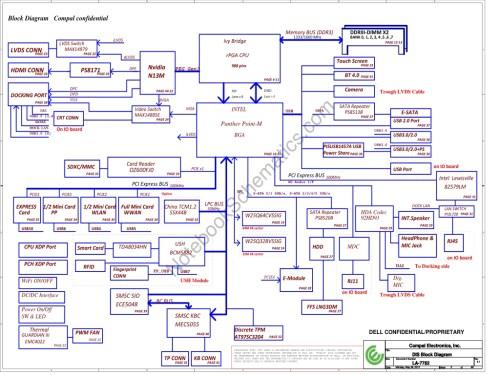 small resolution of schematic for dell latitude e6430 laptop notebook qal81 mainboard compal la 7782p cpu ivy bridge ddr3 discrete vga nvidia n13m