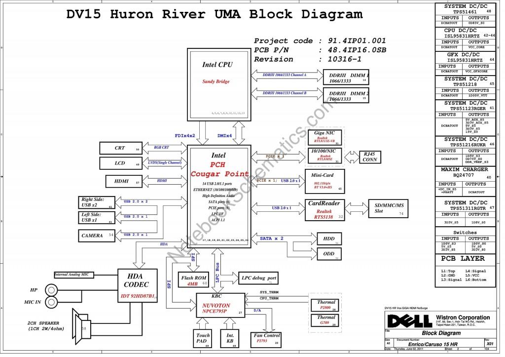 Dell Inspiron N5050 schematic – 10316-1