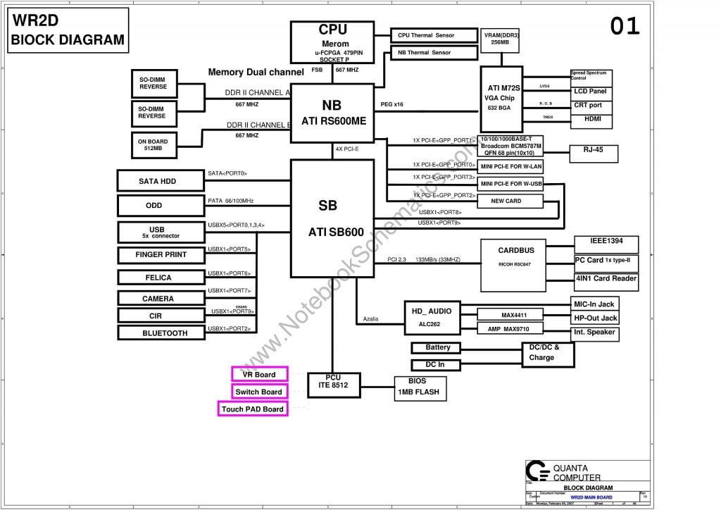 quanta wr2d schematic