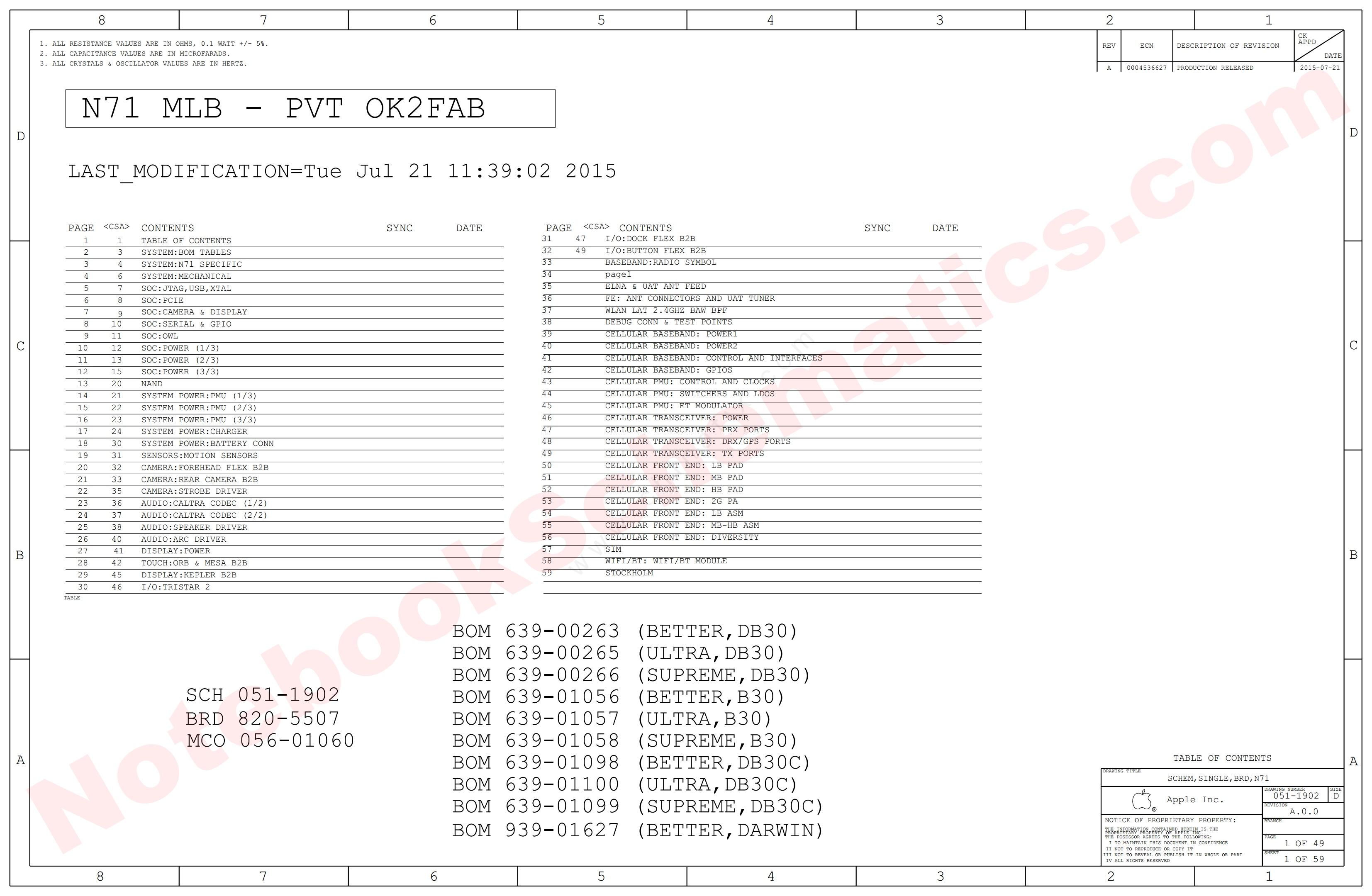 iPhone 6S N71 Schematic – 820-5507