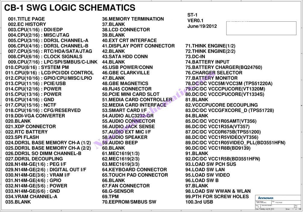 Lenovo Thinkpad T440 Schematic