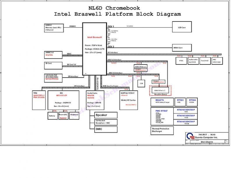 Chromebook NL6D Schematic