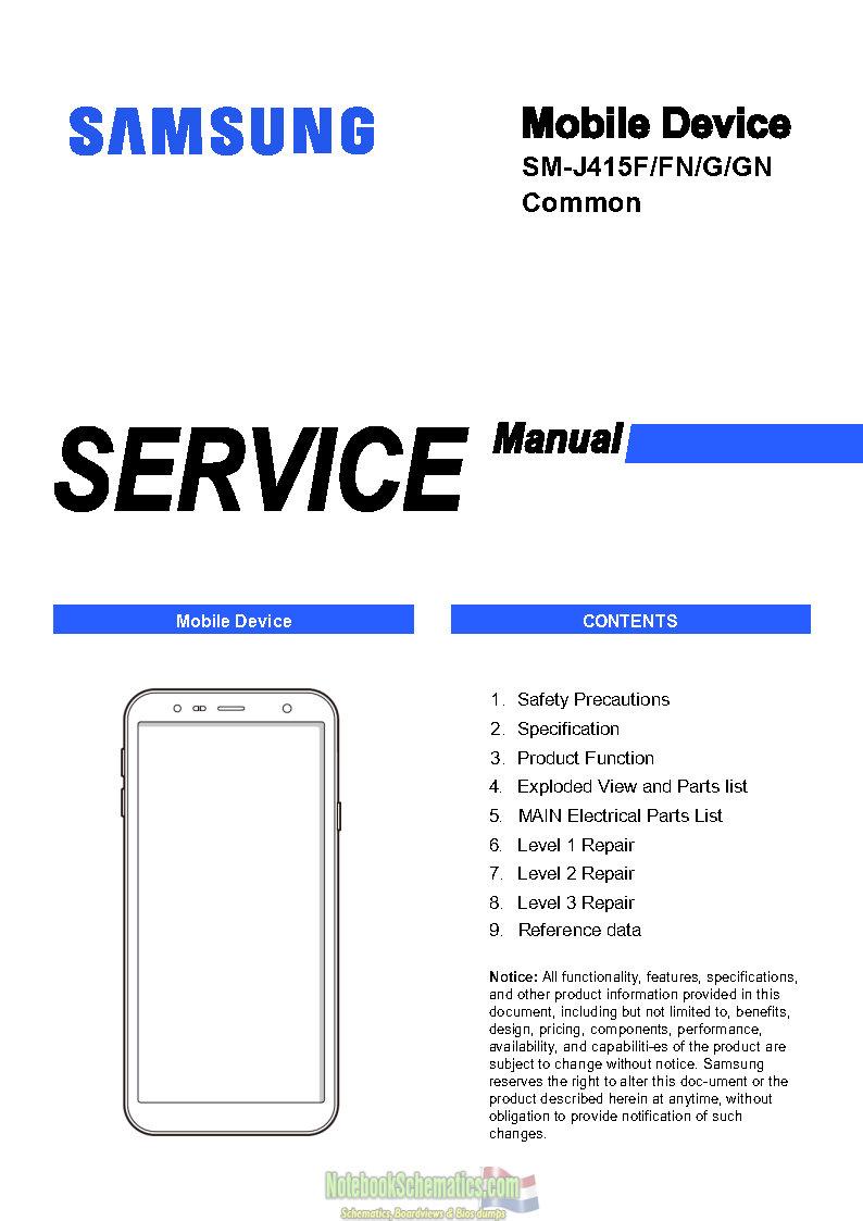 hight resolution of samsung galaxy j4 plus service manual sm j415f service manual