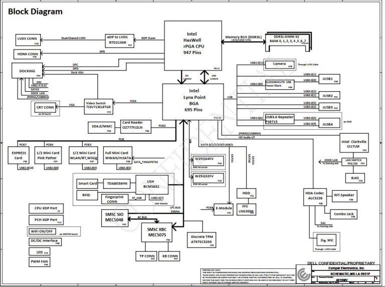 Dell Latitude E6440 Schematic
