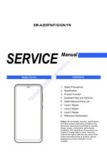 Samsung Galaxy A20 Service Manual