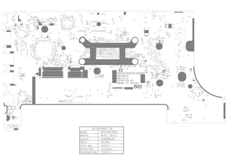 Lenovo Thinkpad E590 Schematic & Silkscreen