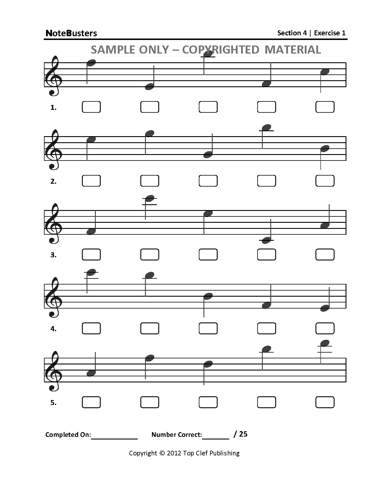 Sample Exercises