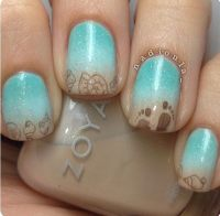 30+ Beach Themed Nail Art Designs - Noted List