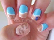 beach themed nail art design