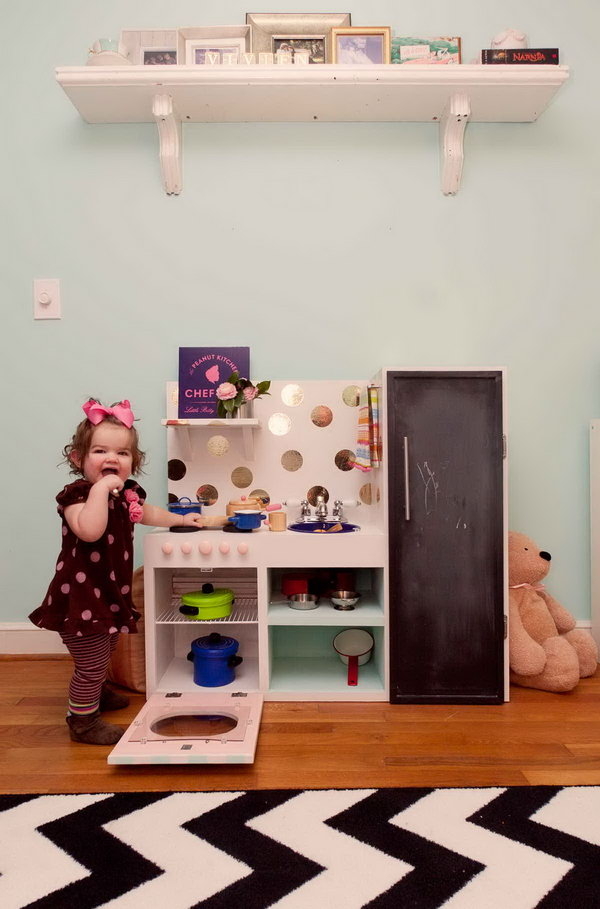 25 DIY Play Kitchen Ideas  Tutorials  Cool Gifts for