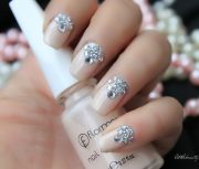 amazing bridal wedding nail