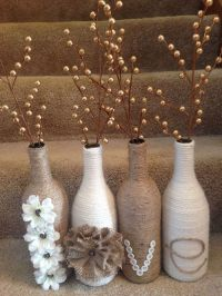 Creative Wine Bottle Centerpieces - Lots of Table ...
