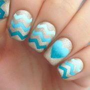 beautiful chevron nail art design