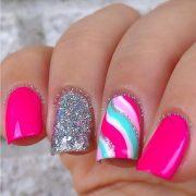 pretty neon nail art design
