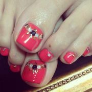 cute & pretty toe nail art design