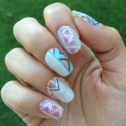 pretty tribal nail art design